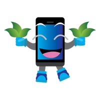 mobile-phone-character-holding-leaves_1424315