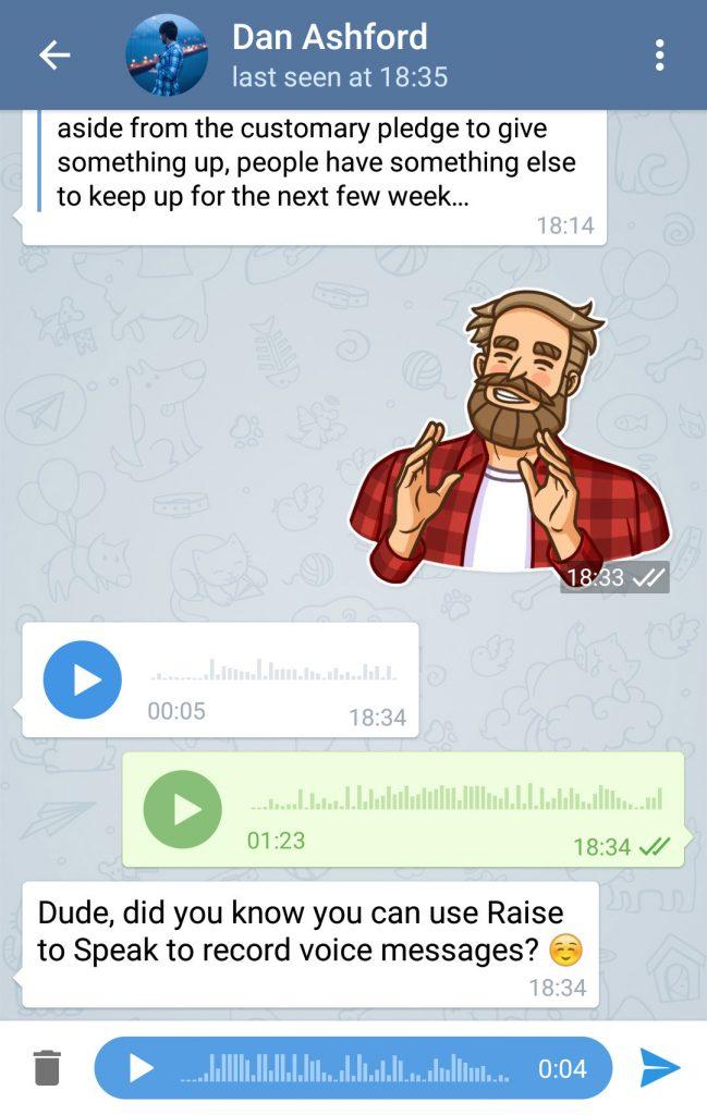 پیام صوتی تلگرام دیجی دکی