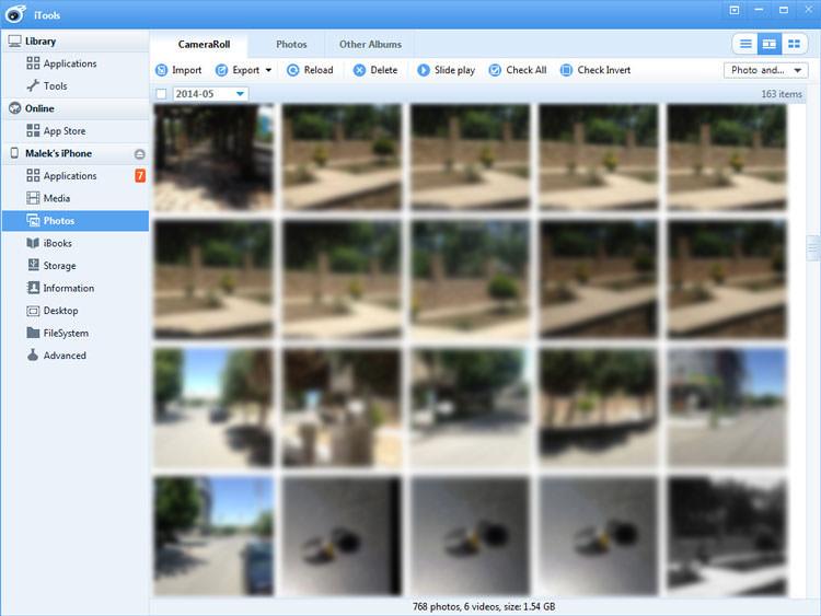 مشاهده و انتقال تصاویر از طریق برنامه iTools: