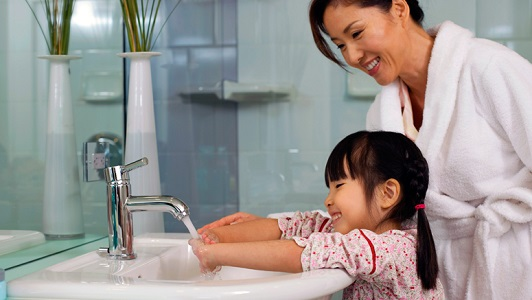 شستن صحیح دست ، البان